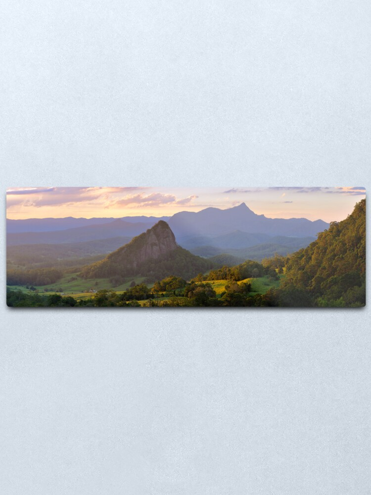 Alternate view of Doughboy Hill & Mt Warning, New South Wales, Australia Metal Print