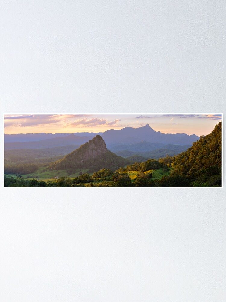Alternate view of Doughboy Hill & Mt Warning, New South Wales, Australia Poster