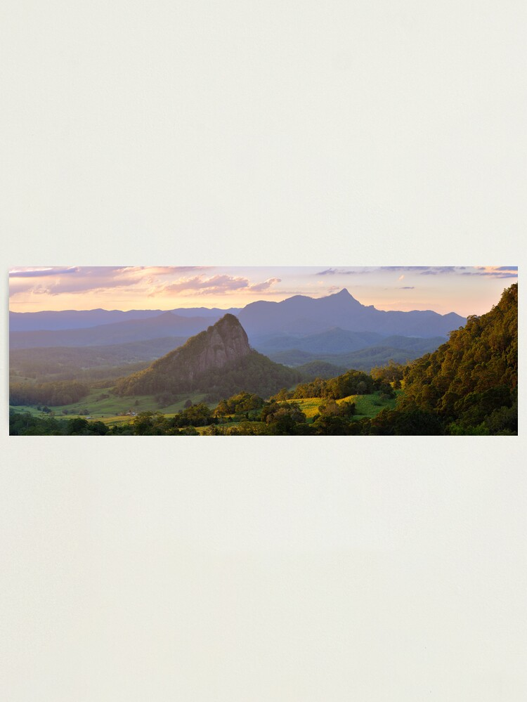 Alternate view of Doughboy Hill & Mt Warning, New South Wales, Australia Photographic Print