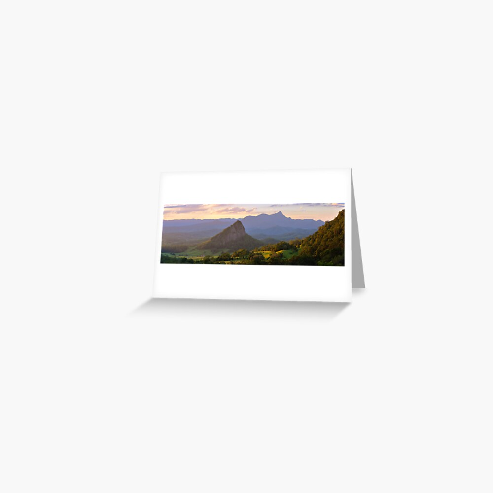 Doughboy Hill & Mt Warning, New South Wales, Australia Greeting Card