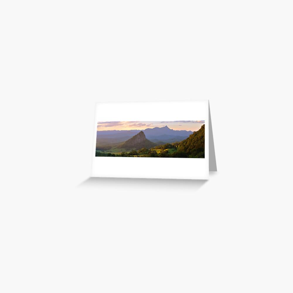 Doughboy Hill & Mt Warning, New South Wales, Australia Greeting Card