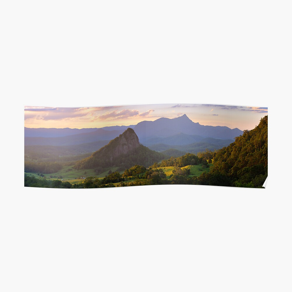 Doughboy Hill & Mt Warning, New South Wales, Australia Poster