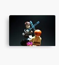 Jedi Duel Canvas Print