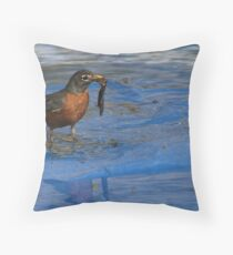 American Robin Throw Pillow