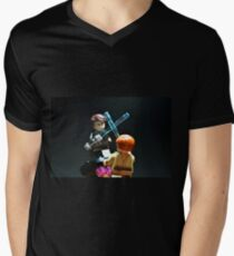 Jedi Duel Mens V-Neck T-Shirt