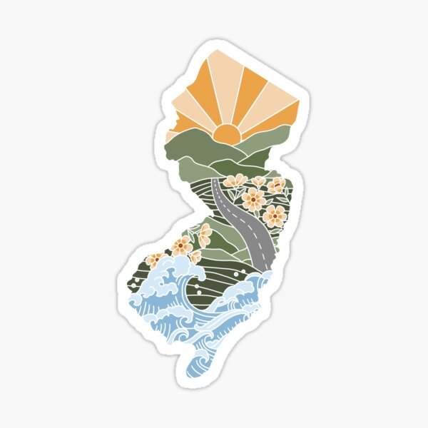 New Jersey Illustrated Graphic Sticker