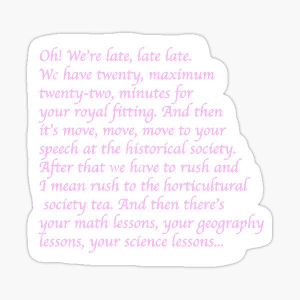 Barbie Princess and the Pauper - Free Lyrics Sticker