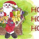 Santa Ho Ho Ho! by dkatiepowellart