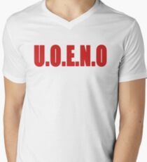 U.O.E.N.O Tee in red Men's V-Neck T-Shirt