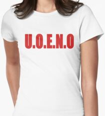 U.O.E.N.O Tee in red Women's Fitted T-Shirt