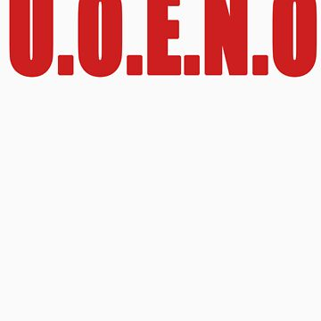 U.O.E.N.O Tee in red by Reese1694