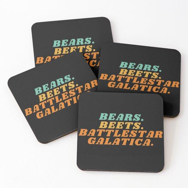 bears. beets. battlestar galactica. Coasters (Set of 4)