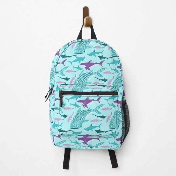 Screamin' Sharks Print Backpack