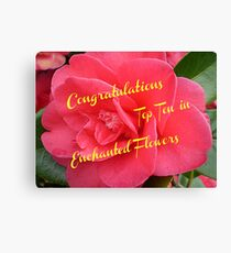 Begonia -Top Ten Banner - Enchanted Flowers Canvas Print