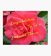 Begonia -Top Ten Banner - Enchanted Flowers Photographic Print