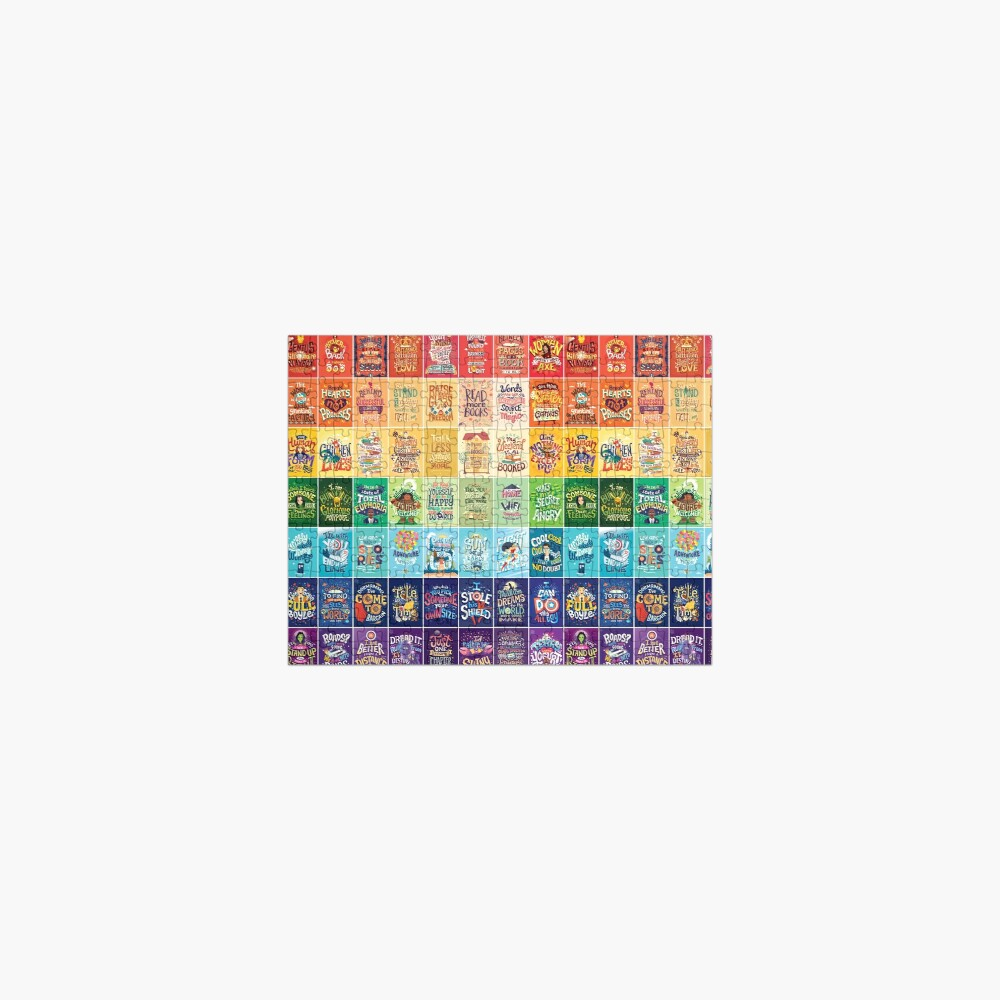 Rainbow of Posters Jigsaw Puzzle