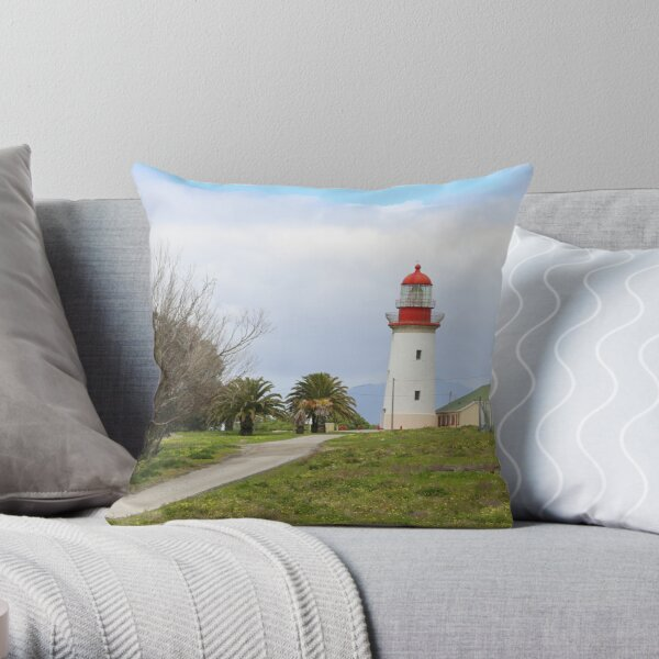 Robben Island Lighthouse, Cape town South Africa  Throw Pillow