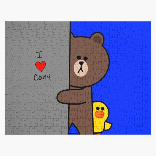 Brown and Cony Handwriting on the Wall Jigsaw Puzzle