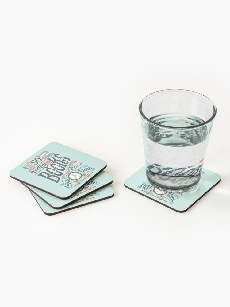 Alternate view of So many books so little time Coasters (Set of 4)
