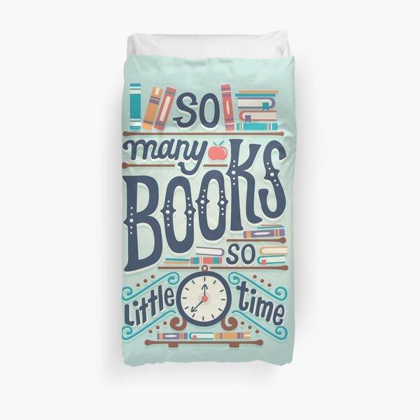 Tant de livres, si peu de temps Housse de couette