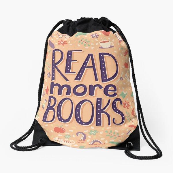 Read more books Drawstring Bag