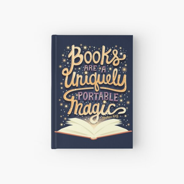 Books are magic Hardcover Journal
