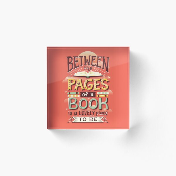 Between pages Acrylic Block