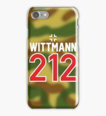 Panzer Aces - Michael Wittmann Camo iPhone Case/Skin