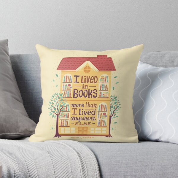 Lived in books Throw Pillow
