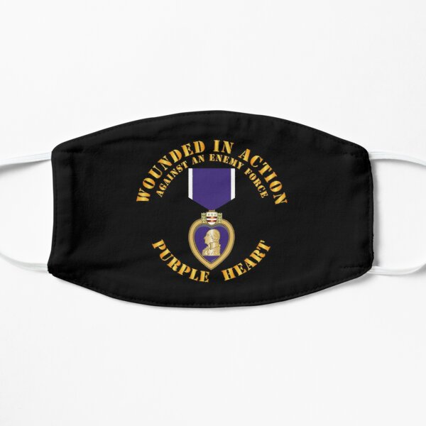 Wounded in Action - Purple Heart V1 Flat Mask