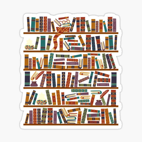 Bookshelf Sticker