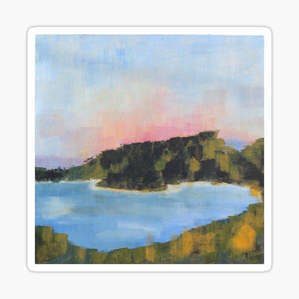 Art print landscape Wineglass Bay Sticker