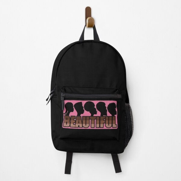 black is beautiful natural hairstyles and brown skin tones pink version Backpack