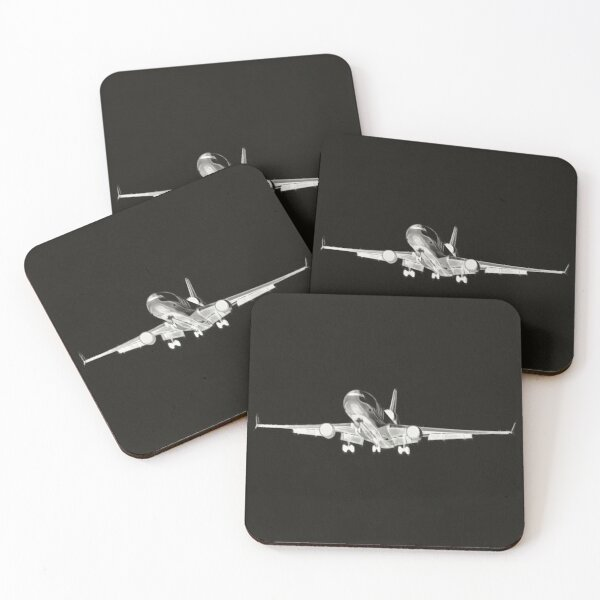 Magnificent Md11 on final Coasters (Set of 4)