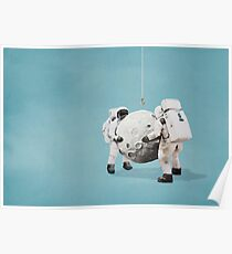 Hanging the moon Poster