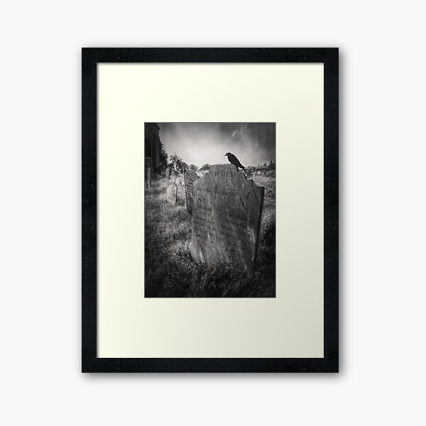 Framed Print Dark Gothic Graveyard//Cemetery//Burial Ground Picture Poster Art