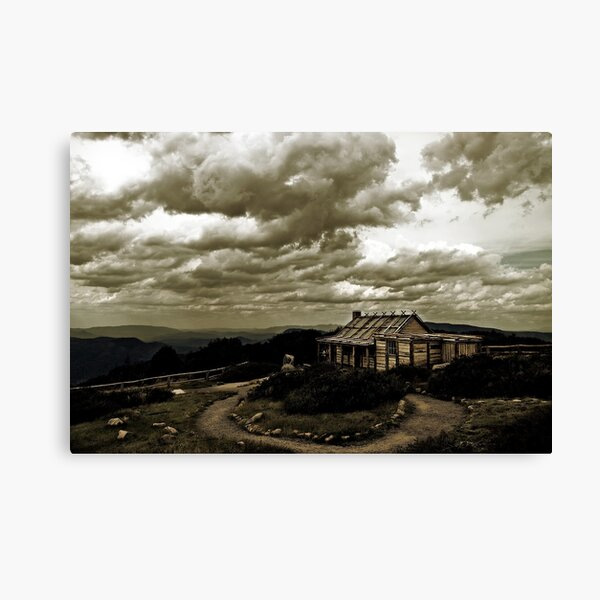 """Craig's Hut, """"The Man from Snowy River"""" Canvas Print"""