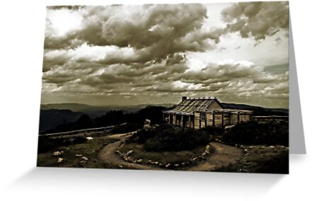 """Craig's Hut, """"The Man from Snowy River"""" by Samantha Cole-Surjan"""