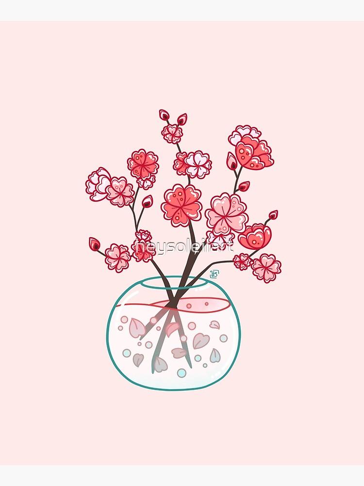 Glass Sakura Bouquet  by heysoleilart