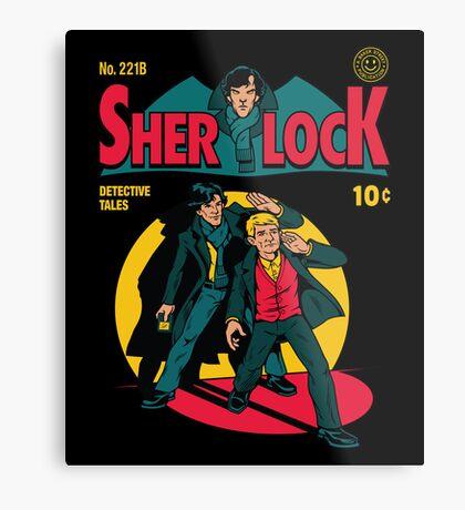 Sherlock Comic Metal Print
