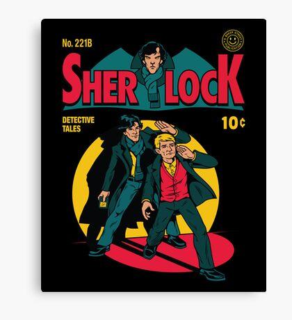 Sherlock Comic Canvas Print