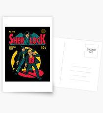 Sherlock Comic Postkarten