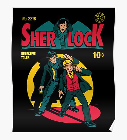 Sherlock Comic Poster