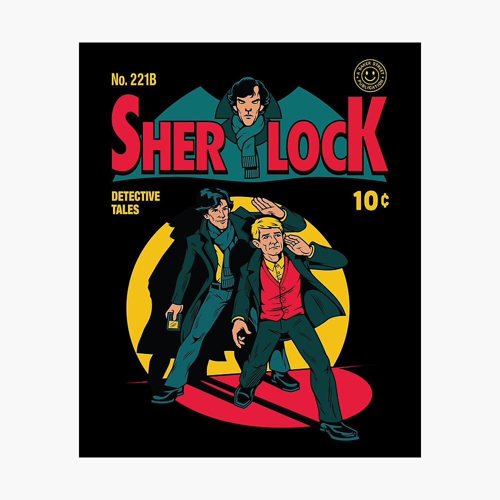 Sherlock Comic Lámina fotográfica