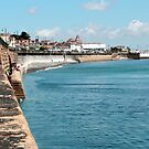 Penzance - The Sea Wall by rsangsterkelly