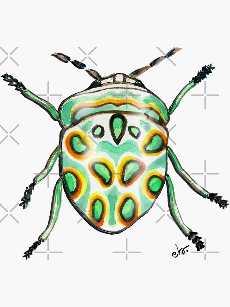Picasso bug_watercolor by ebozzastudio
