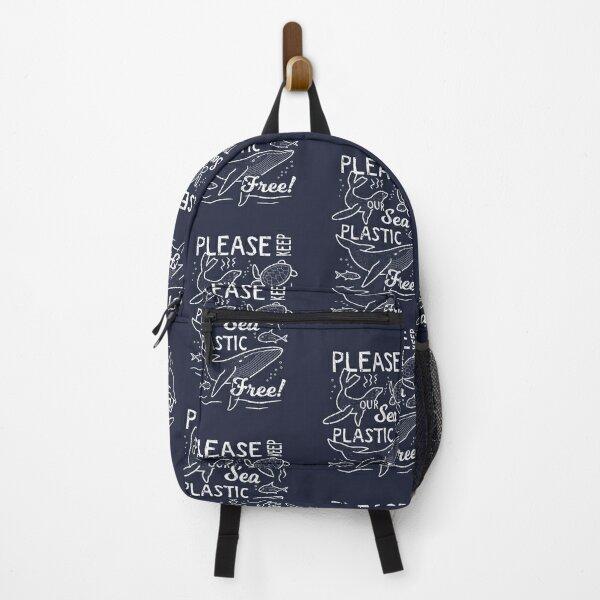 Please Keep Our Sea Plastic Free - Marine Animals Backpack