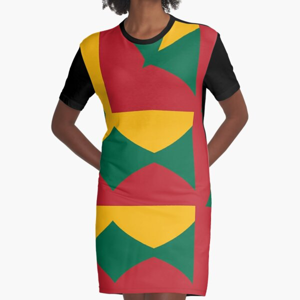 Flag of Lithuania pattern Graphic T-Shirt Dress