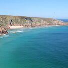 Porthcurno Beach, Cornwall by rsangsterkelly