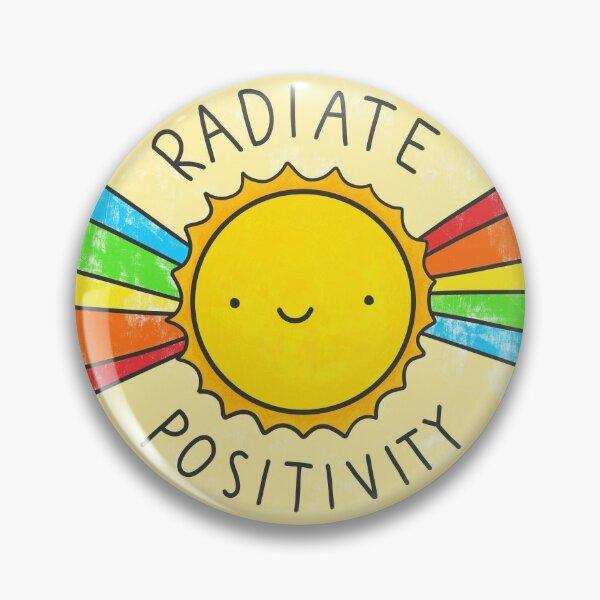 Positivität ausstrahlen Button